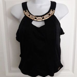 New ITOO black cage crop top size M